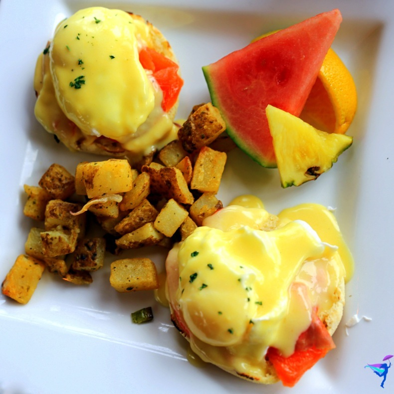 West Coast Wilderness Lodge Vacations Abroad Egmont, British Columbia salmon eggs benedict