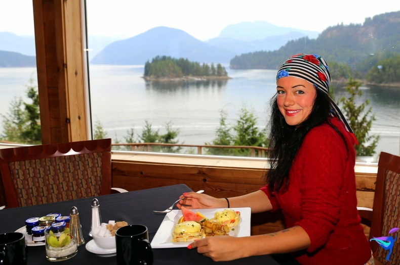 West Coast Wilderness Lodge Vacations Abroad Egmont, British Columbia breakfast view