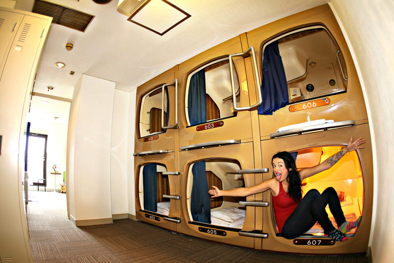 the truth about capsule hotels in japan the legendary adventures of anna. Black Bedroom Furniture Sets. Home Design Ideas