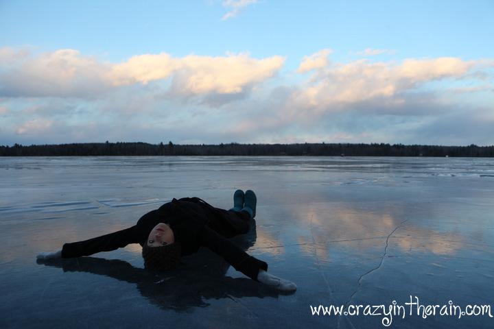 Maine Frozen Lake