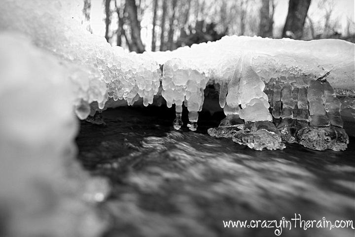 frozen river ice
