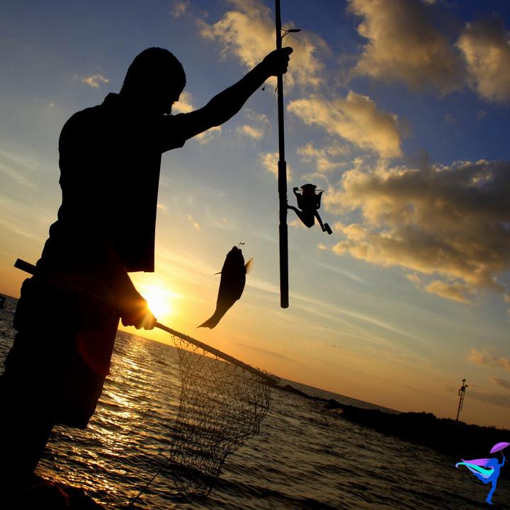 Fishing Sunset Kailua Kona, Hawaii