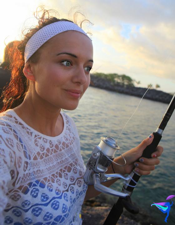 Girl Fishing Hawaii