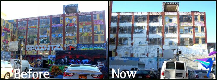 5 pointz whitewashed demolished long island city