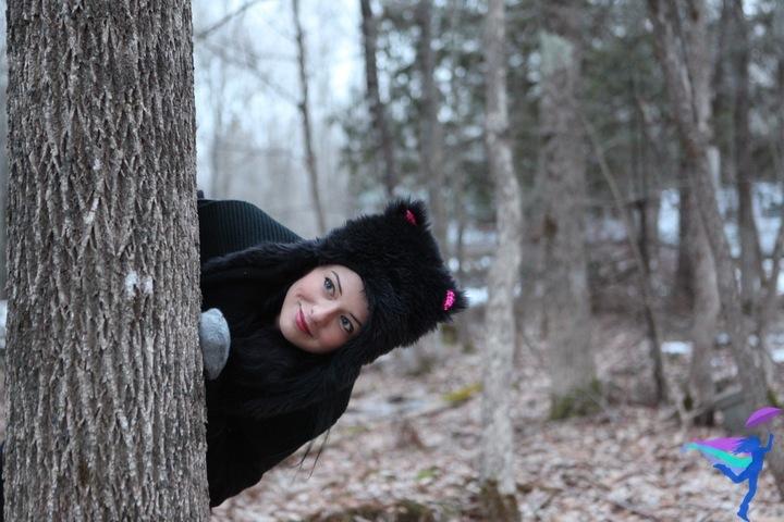 Maine Winter forest bear hat