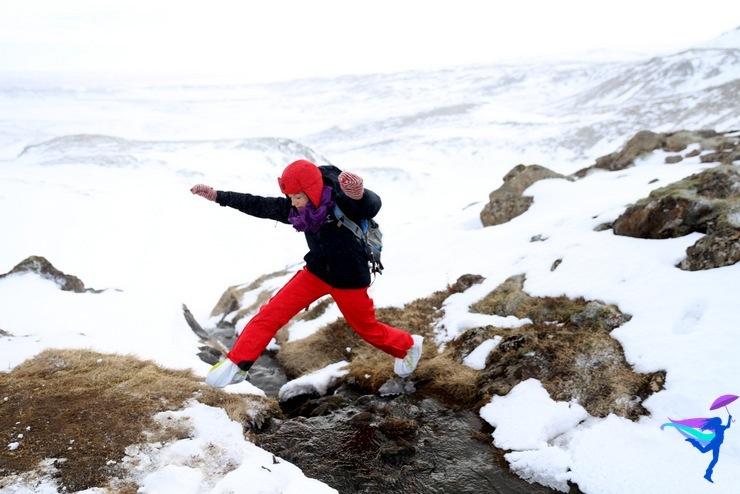 snow winter hike Iceland