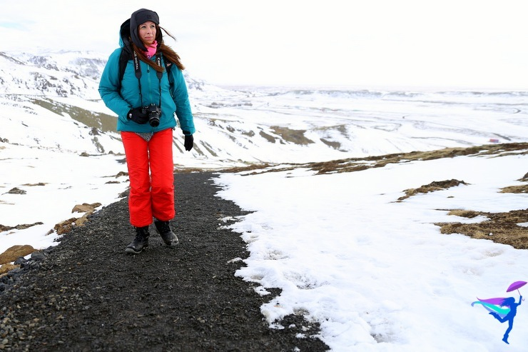 snow winter hike Iceland