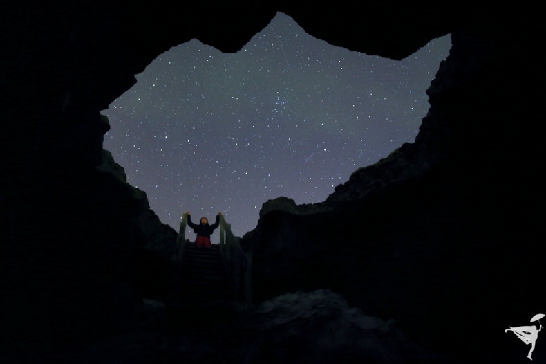 night sky stars Iceland
