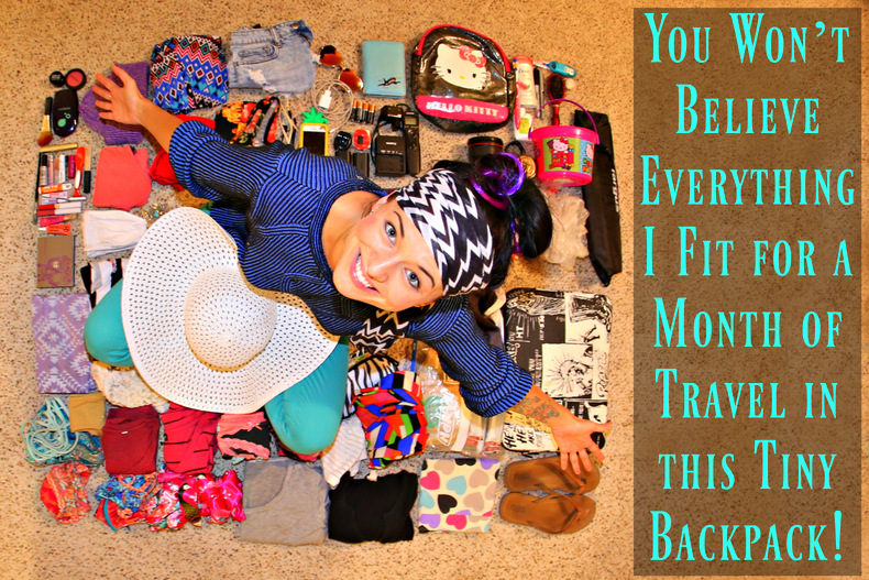 You Won't Believe Everything I Fit for a Month of Travel in this Tiny Backpack(video)!