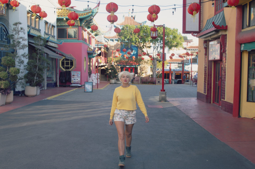 Empty Los Angeles Chinatown