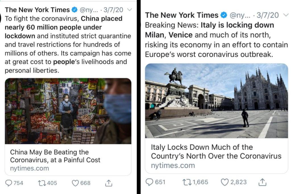 New York Times Corona Virus racial distortion